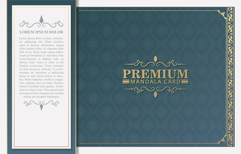 plantilla de vector de tarjeta de felicitación de adorno de lujo
