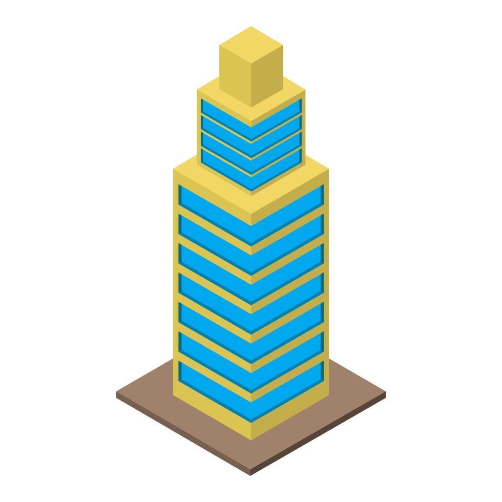 rascacielos isométrico sobre fondo blanco vector