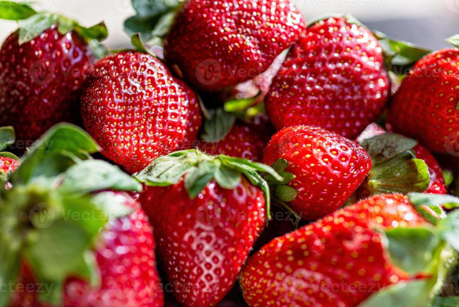 Fresh ripe perfect strawberries photo