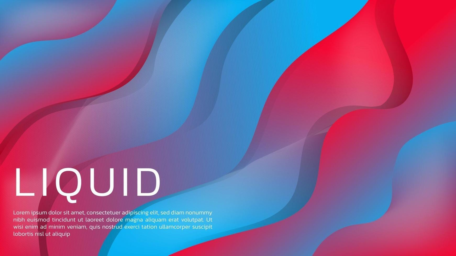 Liquid-Abstract 3D Liquid Gradient Background with Vibrant Color for Web Landing Page and Wallpaper vector