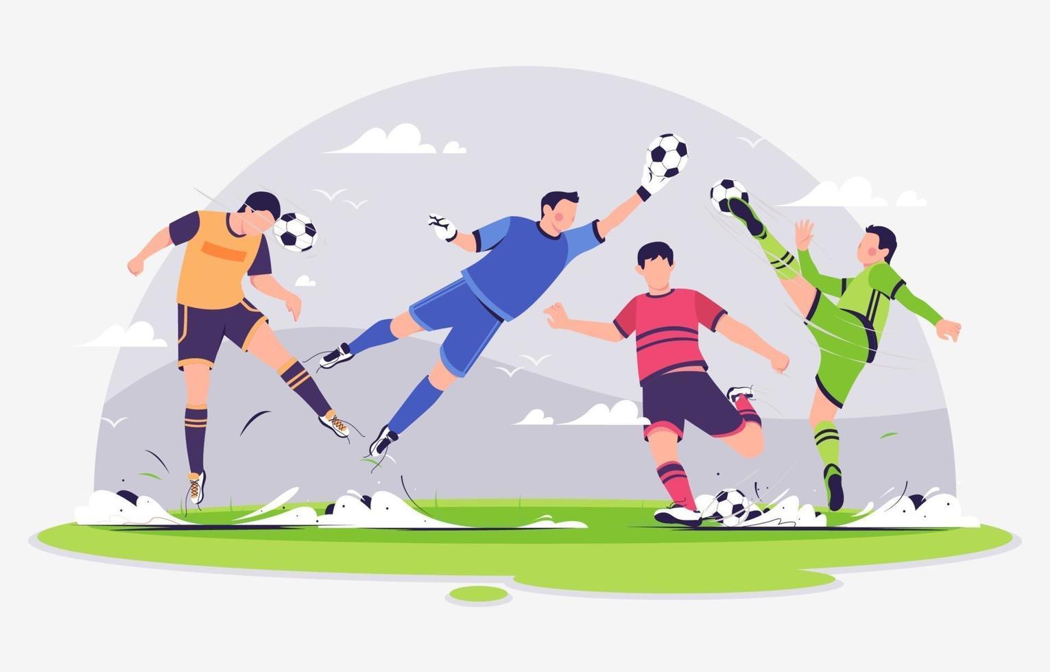 personaje de jugador de fútbol vector