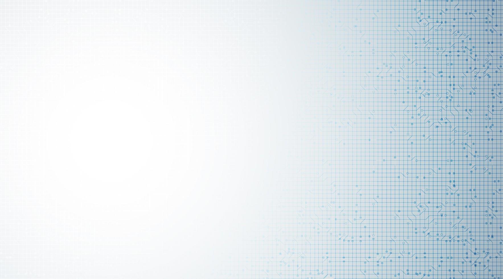 Microchip blanco y azul sobre fondo de tecnología, diseño de concepto de alta tecnología y seguridad vector