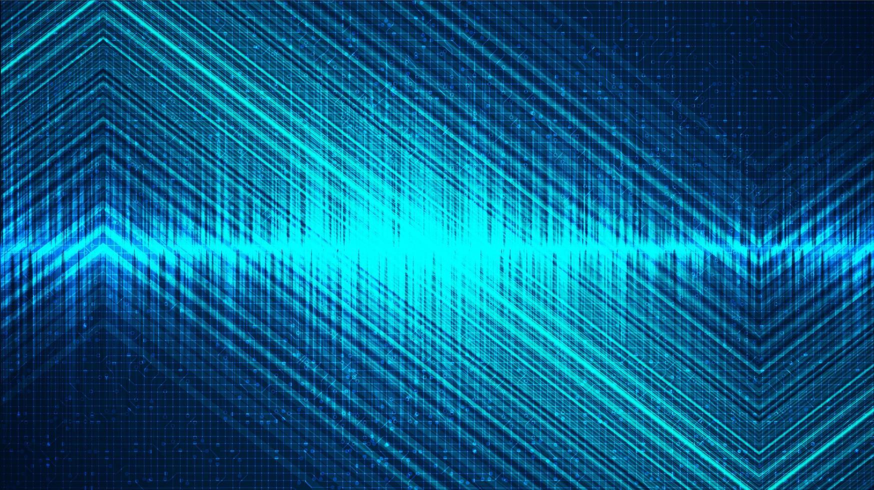 Fondo de onda de sonido digital de luz, tecnología y concepto de diagrama de onda de terremoto vector