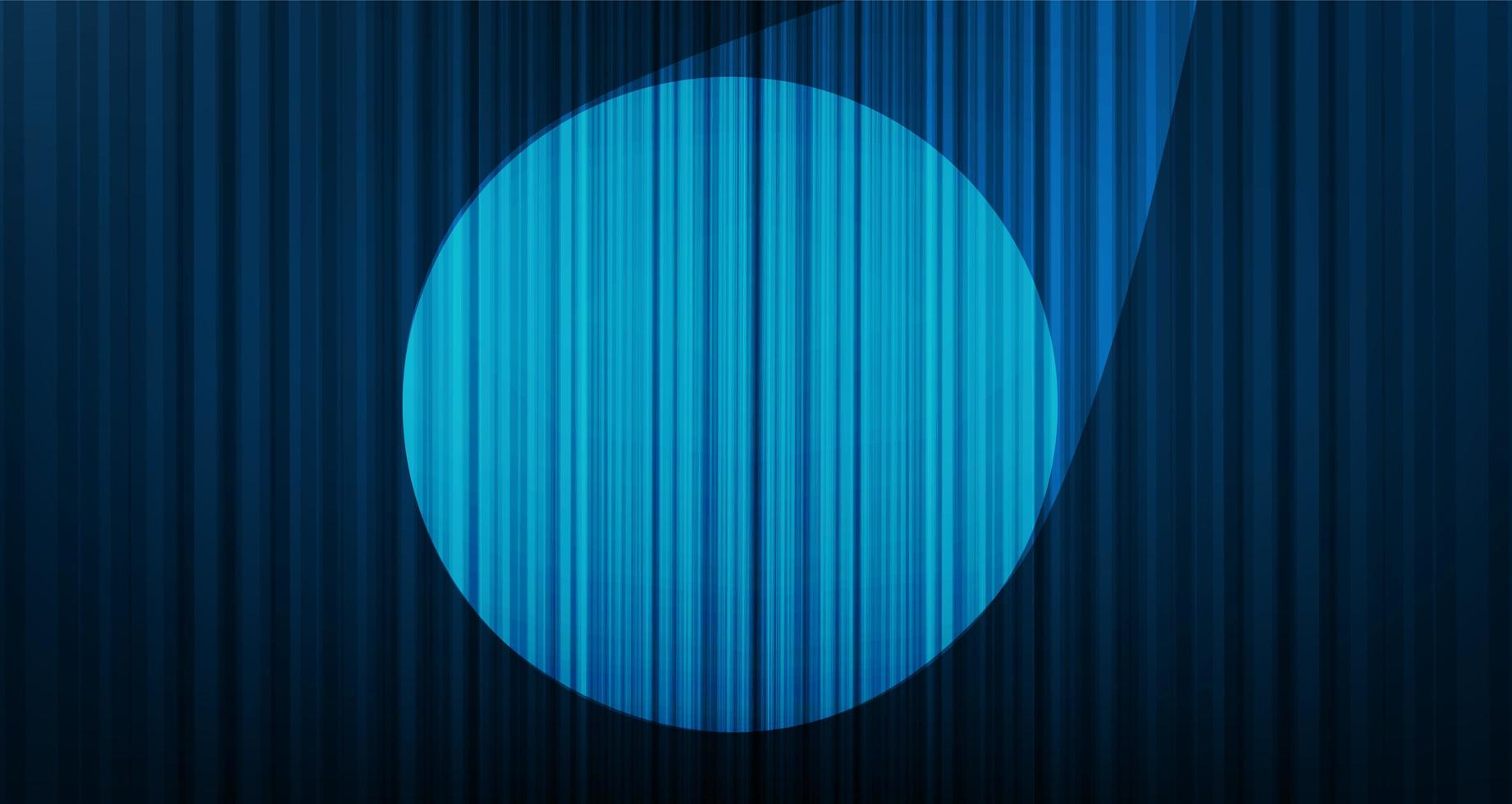 Vector de fondo de cortina azul claro con luz de escenario, alta calidad y estilo moderno.