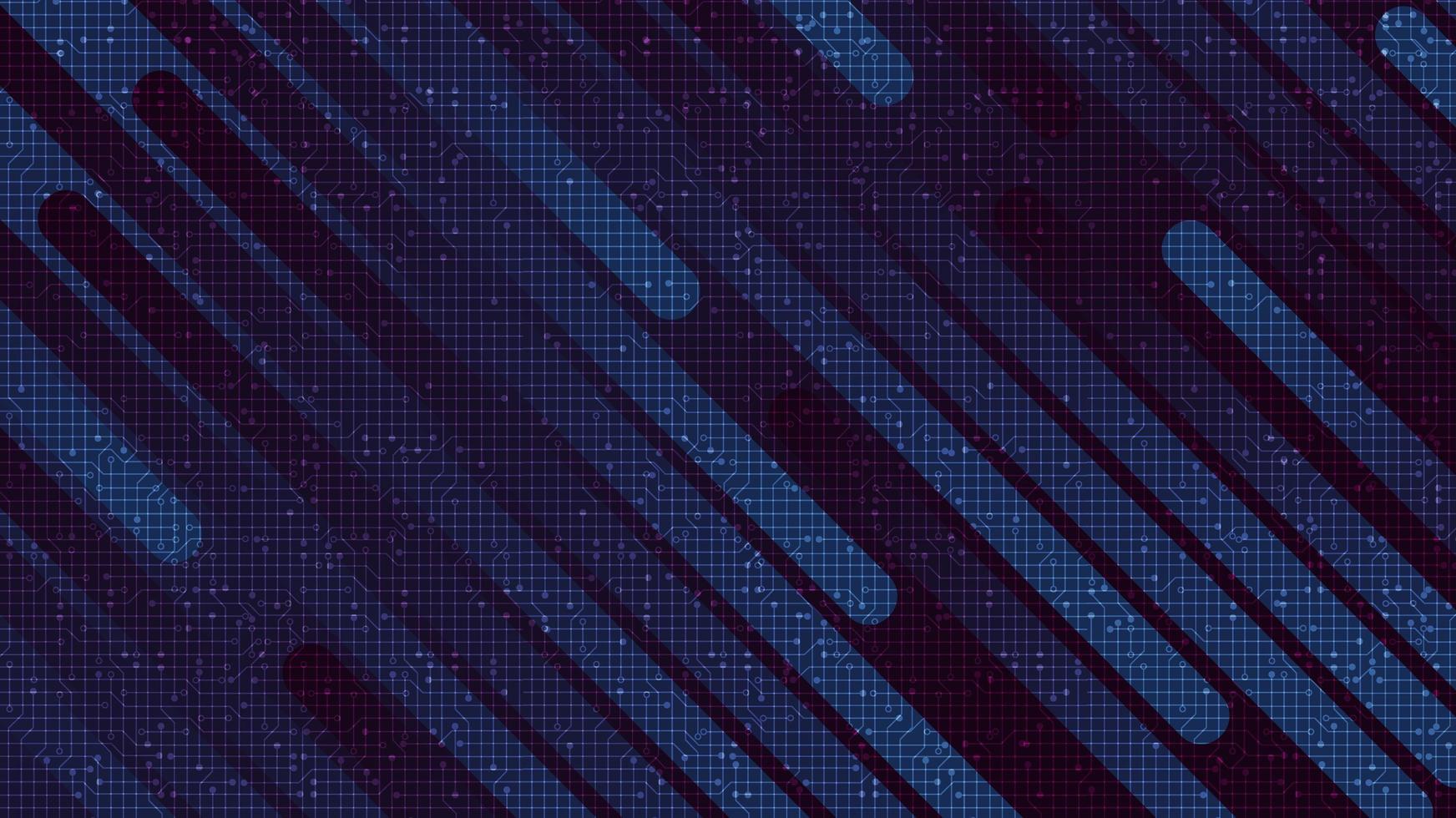 Microchip de circuito de línea de velocidad futurista sobre fondo de tecnología púrpura, diseño de concepto de alta tecnología y seguridad vector