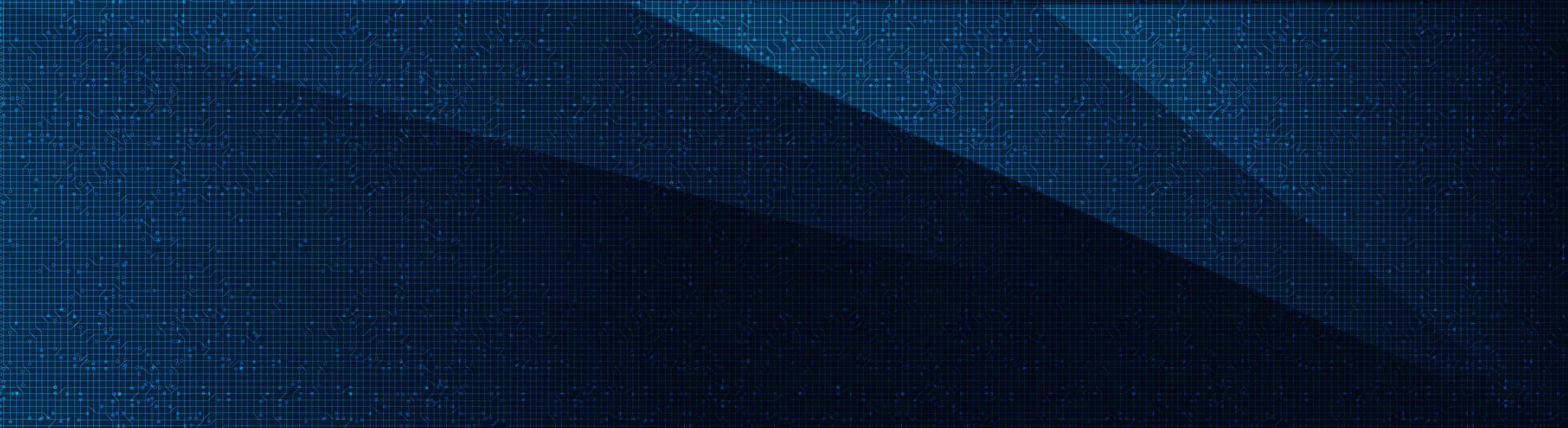 Microchip de circuito azul oscuro sobre fondo de tecnología, diseño de concepto digital y de seguridad de alta tecnología vector