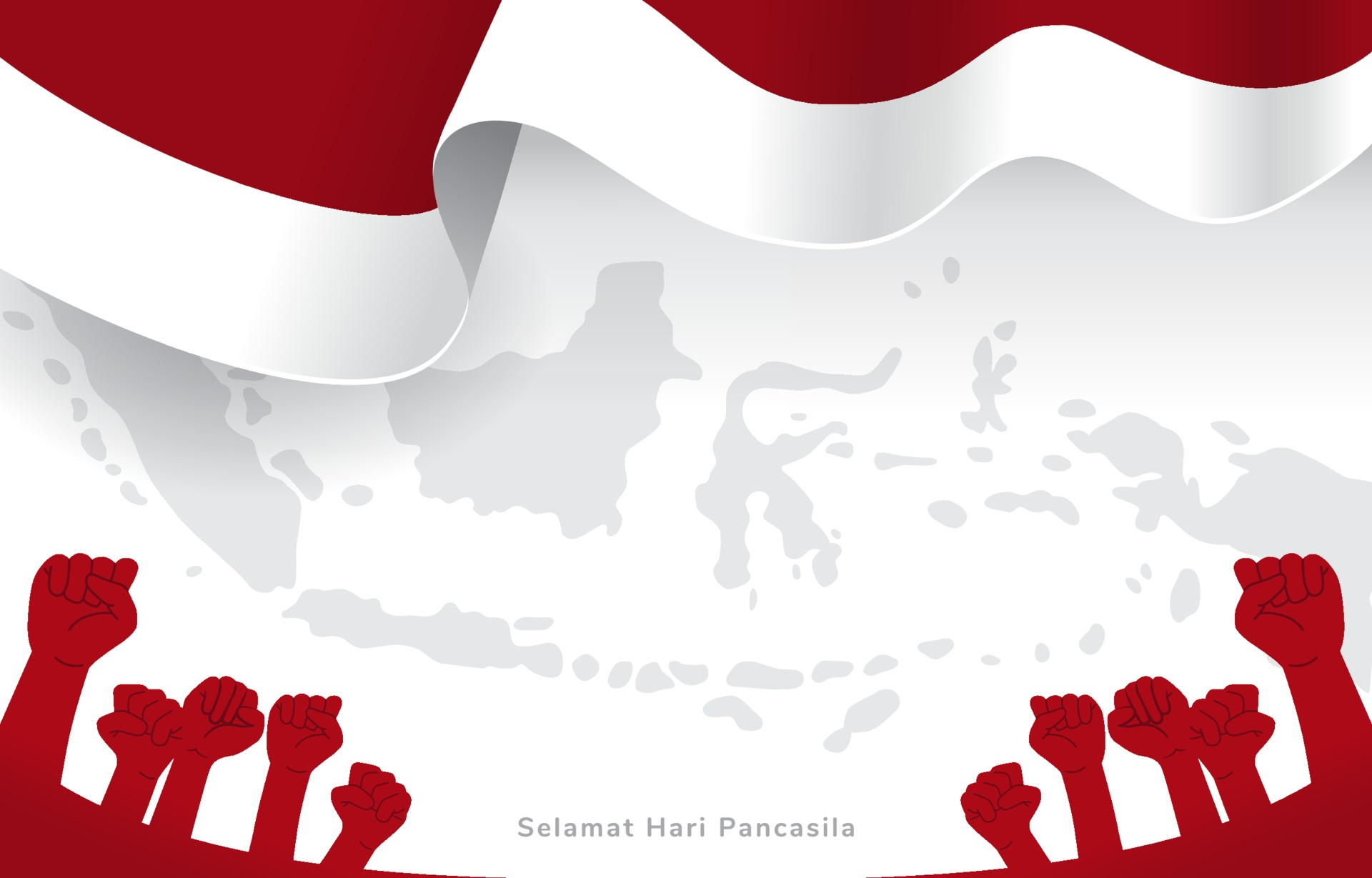 Indonesian Celebrating Pancasila Day With Indonesia Map And Flag Background  2188947 Vector Art At Vecteezy