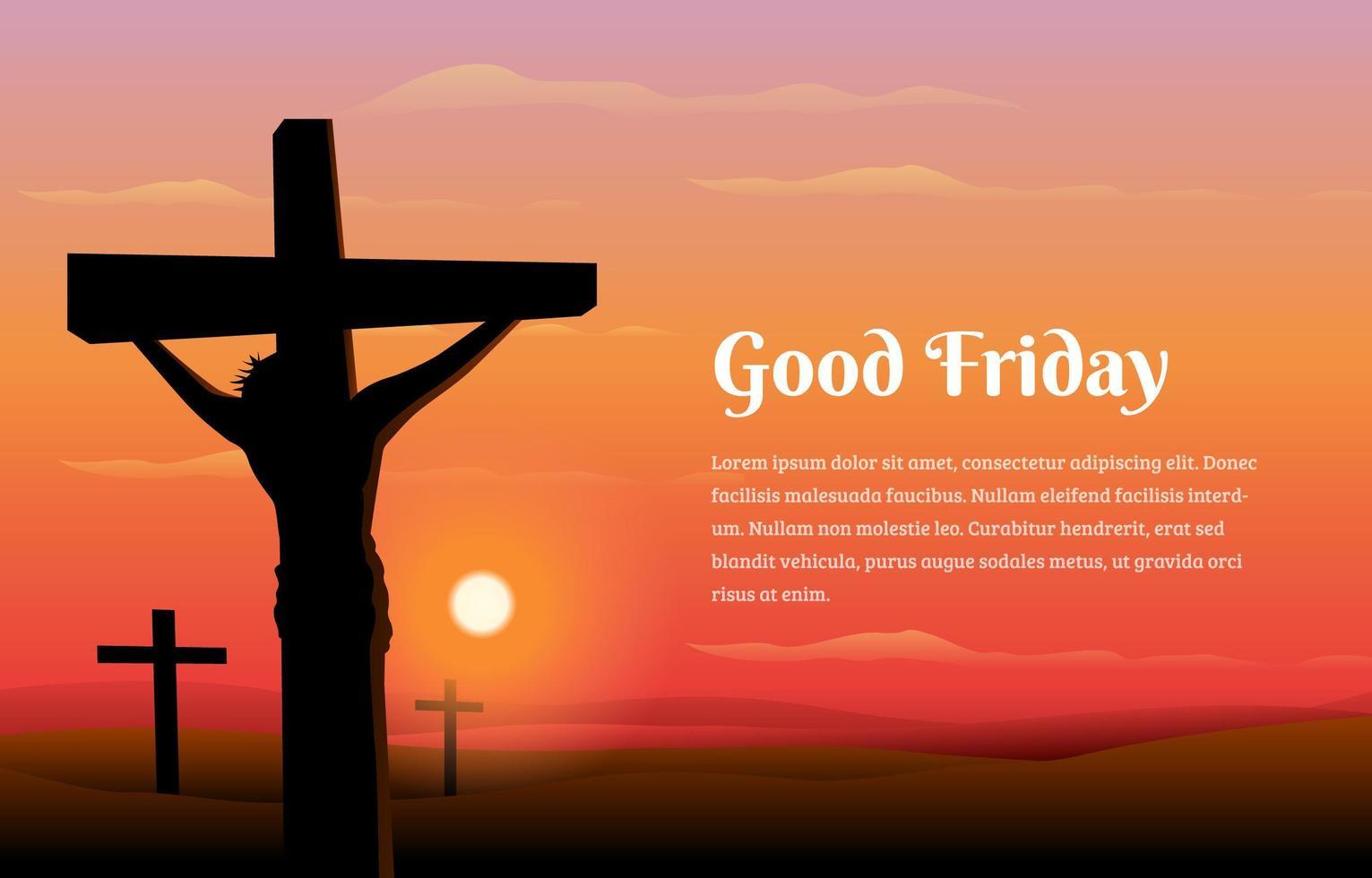 Jesus Christ Good Friday Concept vector