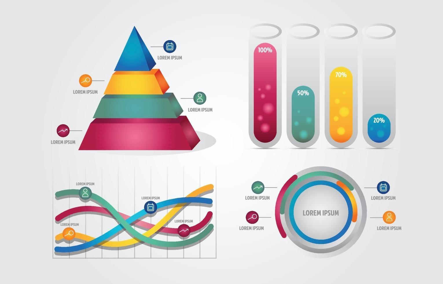 3D Modern Infographics Business Template vector