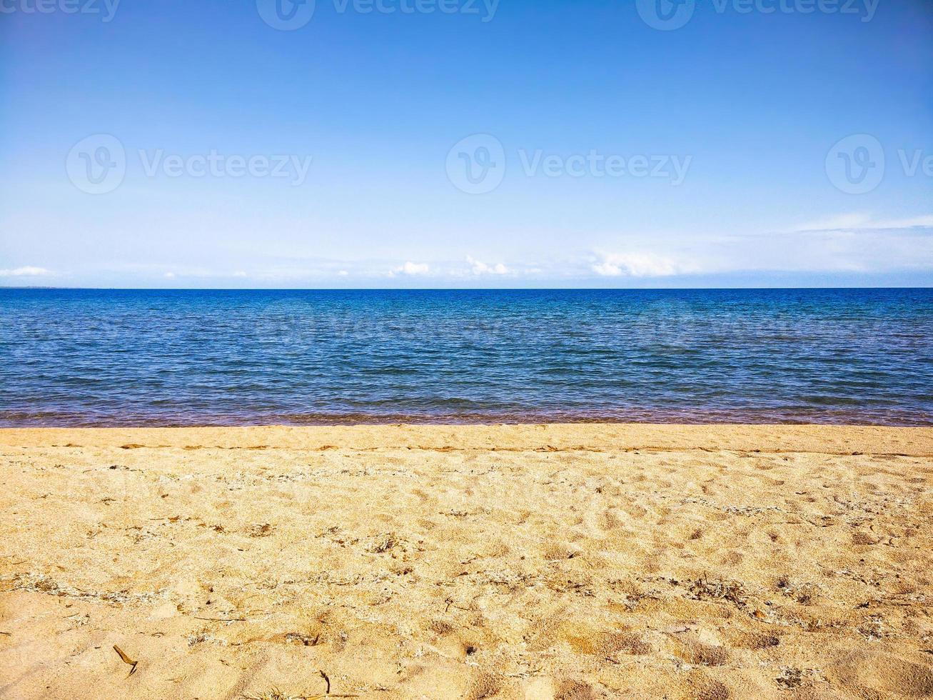 playa mar horizonte foto