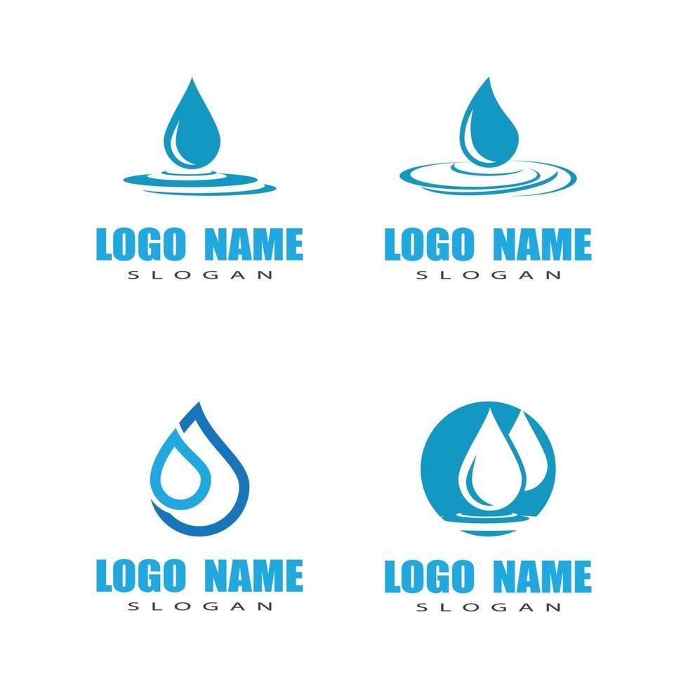Diseño de ilustración de vector de plantilla de logotipo de gota de agua