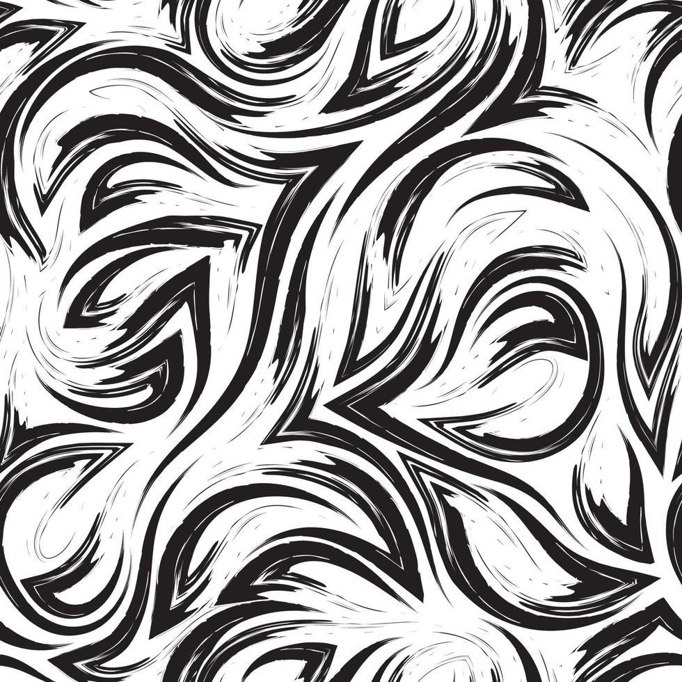 patrón transparente geométrico vector negro de esquinas de líneas fluidas y ondas aisladas sobre fondo blanco. textura de flujo de agua o mar.