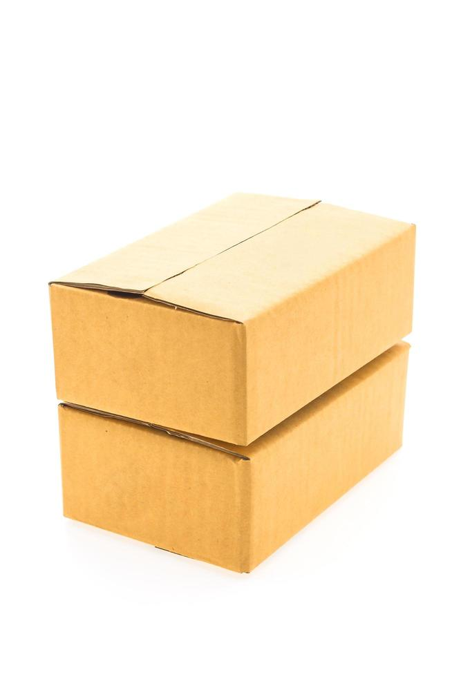 Brown box isolated photo