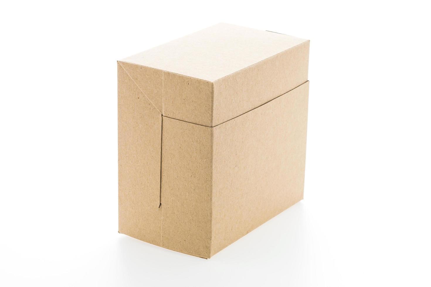 Brown paper box photo
