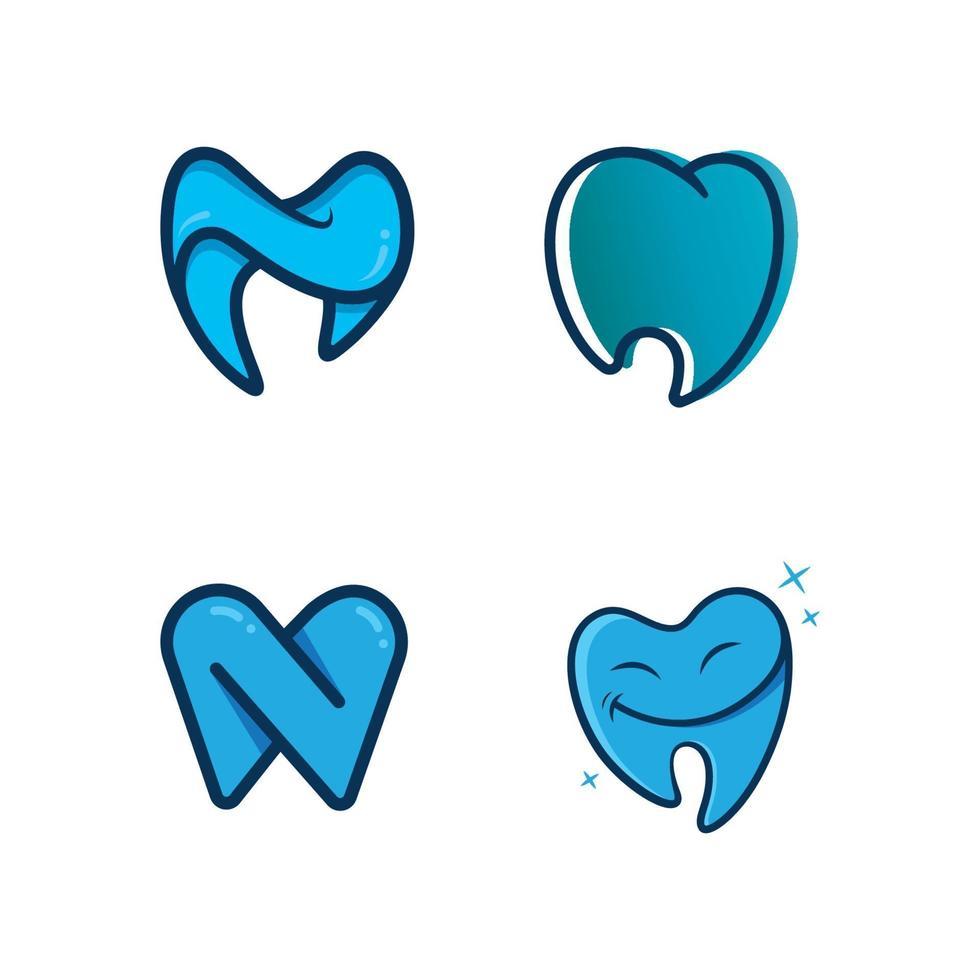 vector logo de clínica dental e icono médico