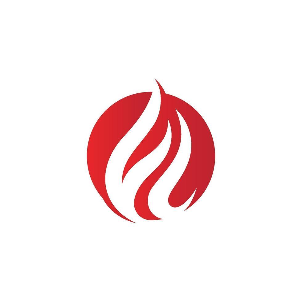 Icono de vector de logotipo de llama de fuego, icono de diseño de ilustración