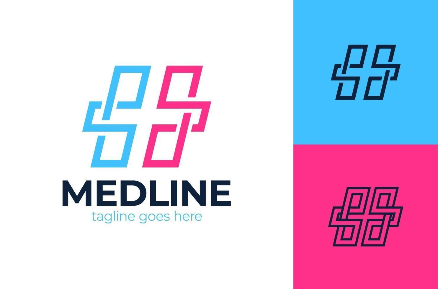 Creative Health Care Concept Logo Design Template. Cross plus medical logo icon design template elements vector