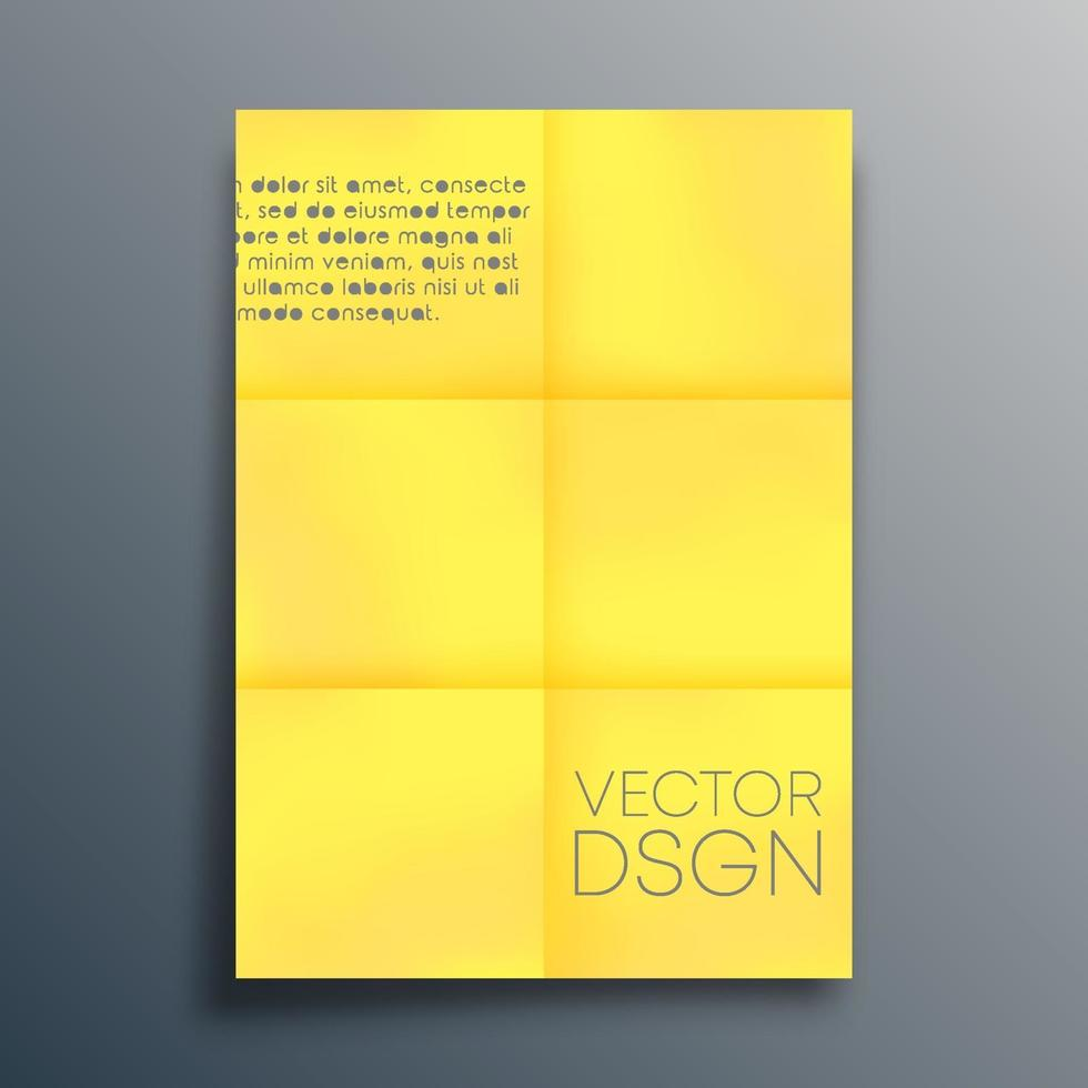 Yellow paper design for flyer, poster, brochure cover, background, wallpaper, typography, or other printing products. Vector illustration