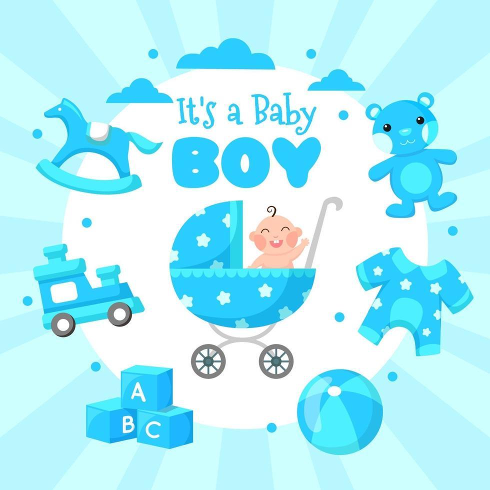 It's a Boy Celebration Design vector