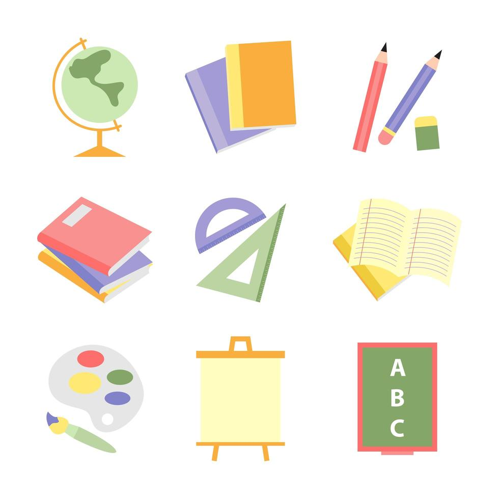 School Icon Set for Kids vector