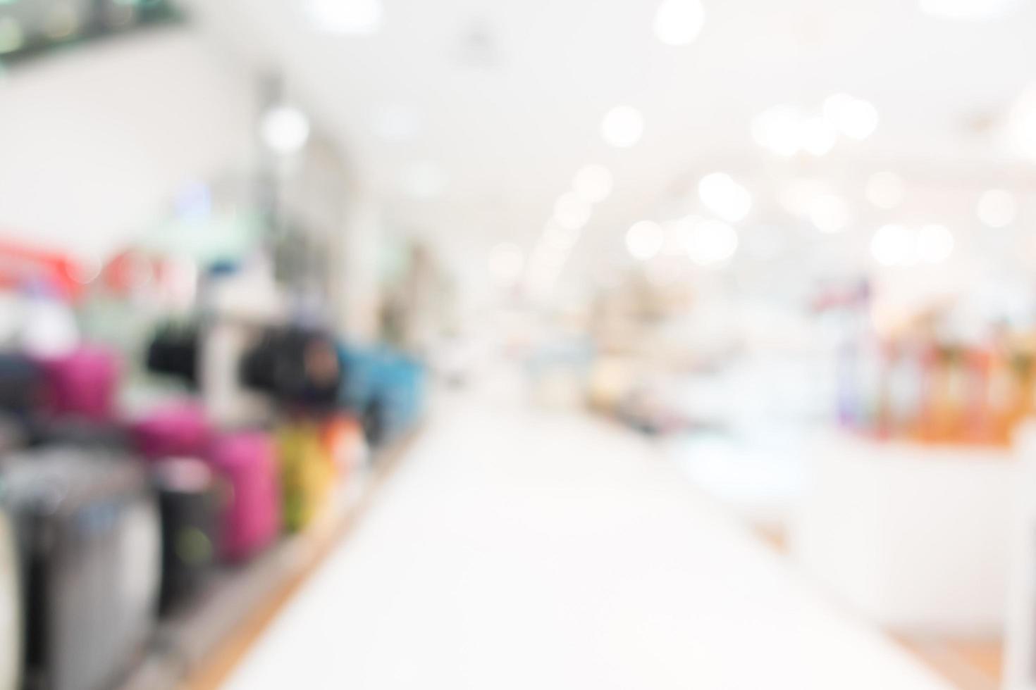 centro comercial de desenfoque abstracto para el fondo foto