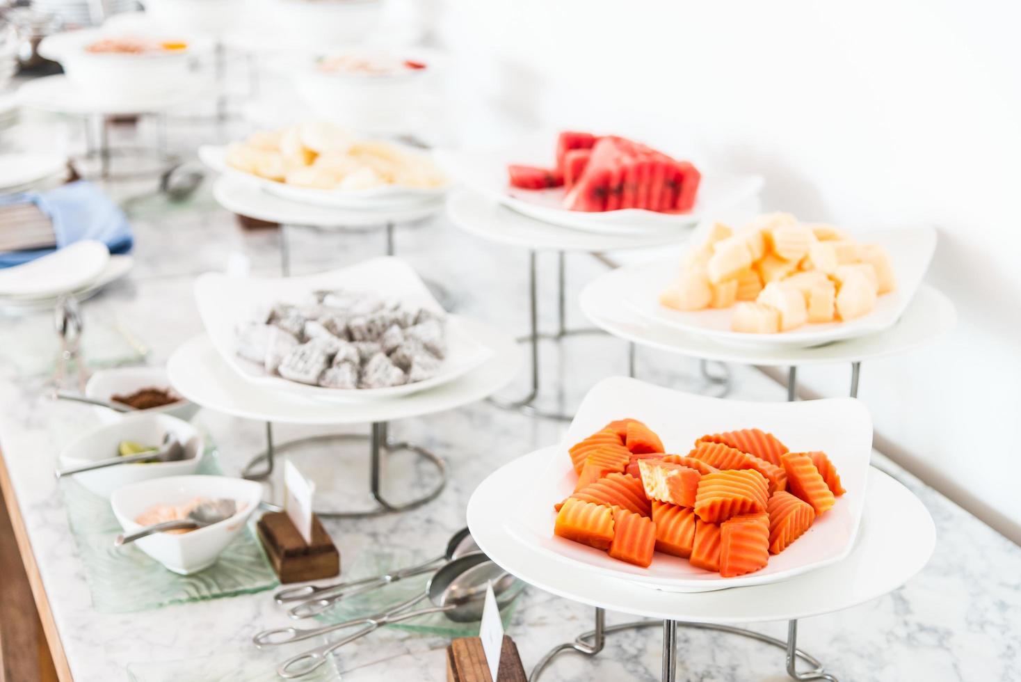 catering comida buffet foto