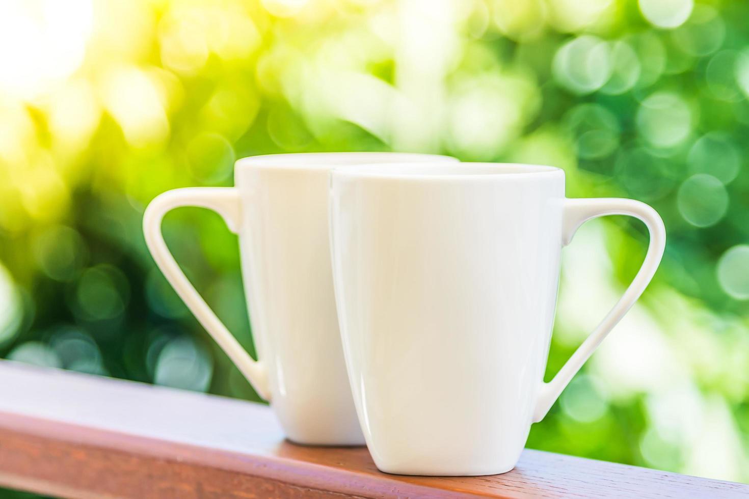 tazas de café con leche foto
