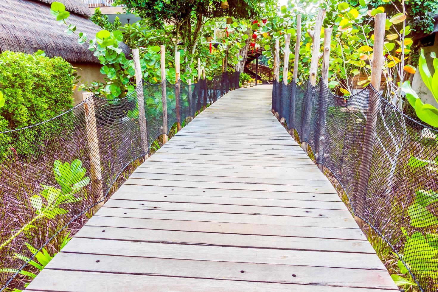camino de madera para caminar foto