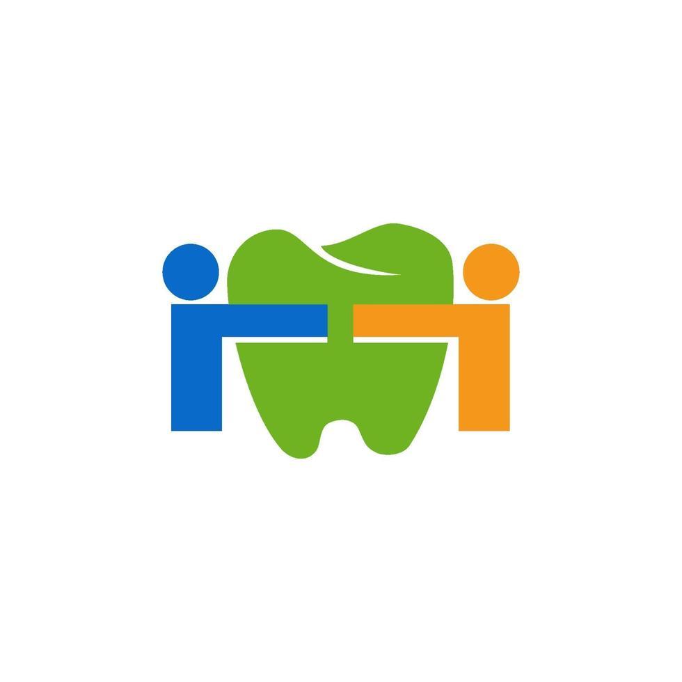 Plantilla de vector de diseño abstracto de diente de logotipo de clínica dental