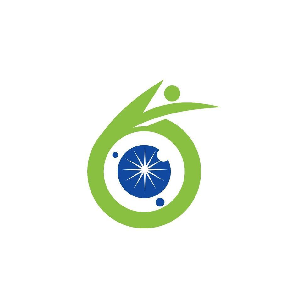 icono de plantilla de diseño de salud de cuidado de los ojos vector