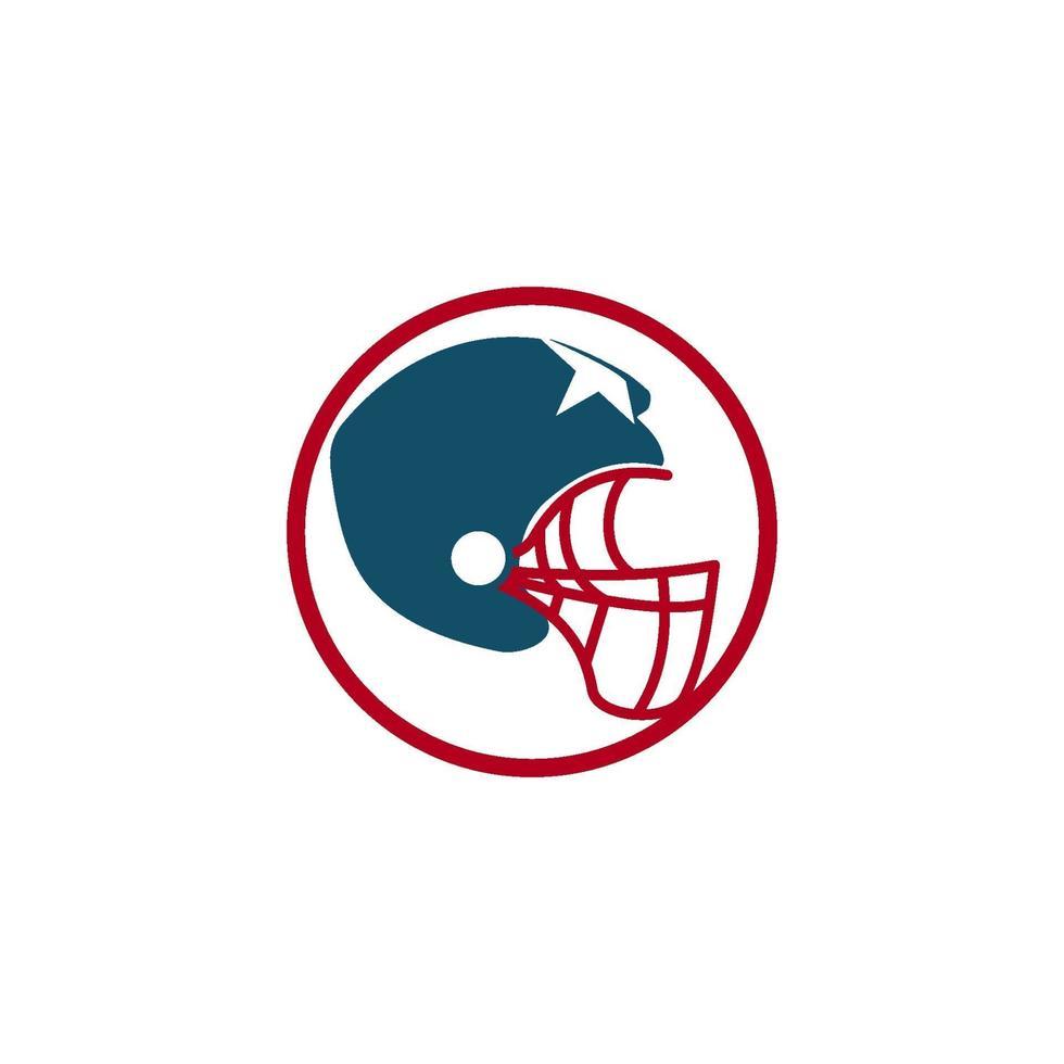 emblema de diseño de plantilla de logotipo de deporte de fútbol americano vector