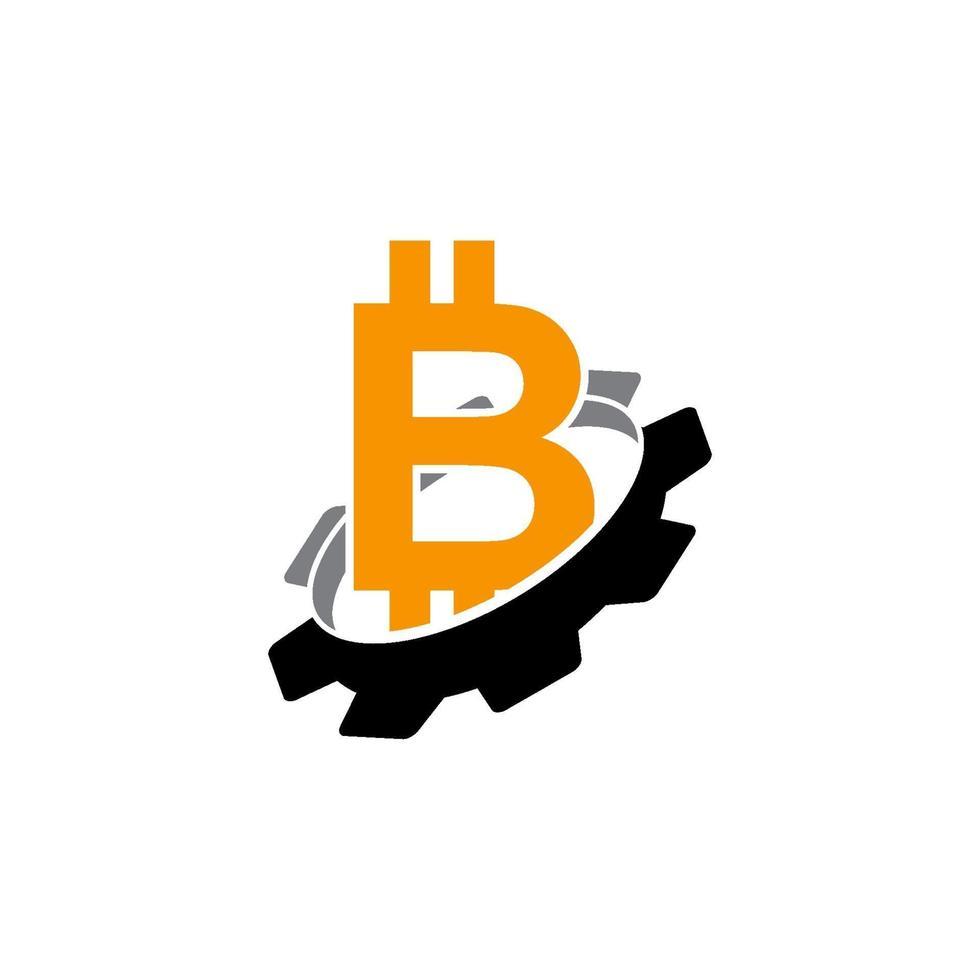 icono de plantilla de diseño de negocio de dinero de engranaje vector