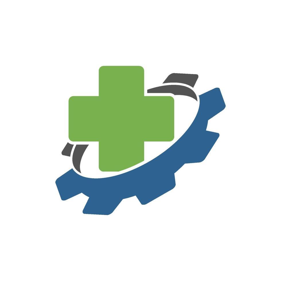 icono de plantilla de diseño de negocio de salud de engranaje vector