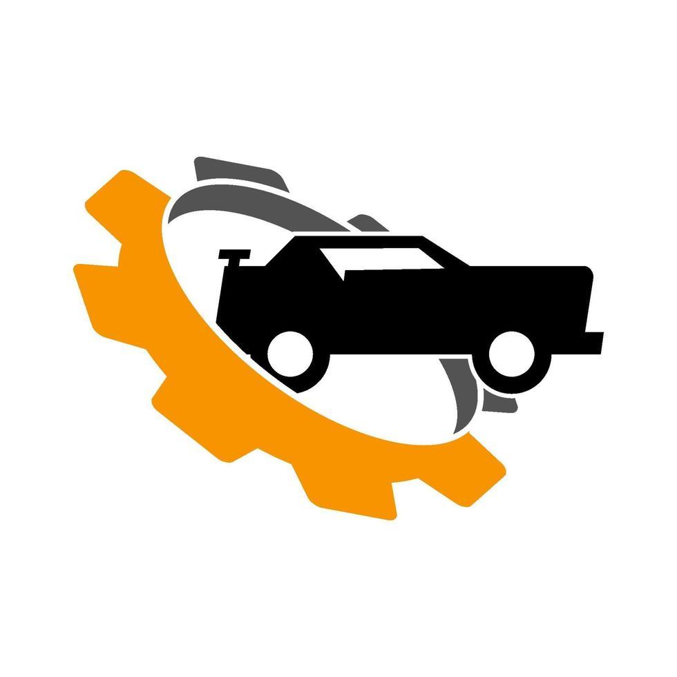 icono de plantilla de diseño de negocio de coche de engranaje vector