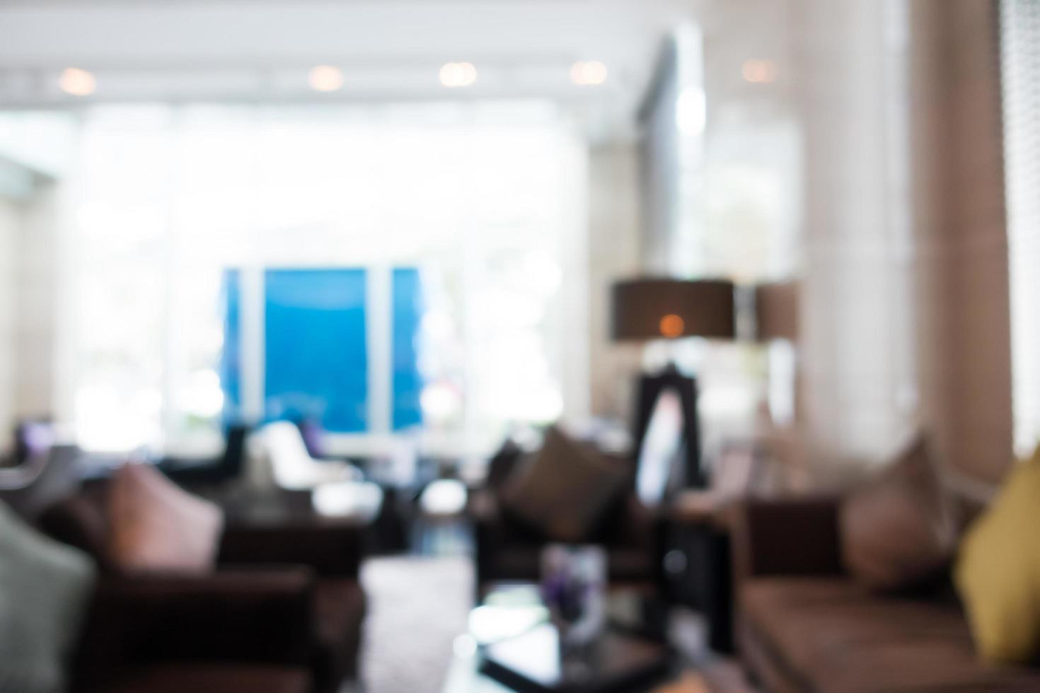 lobby del hotel borroso abstracto foto