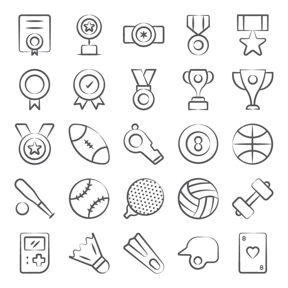 elementos de juegos y pasatiempos. vector