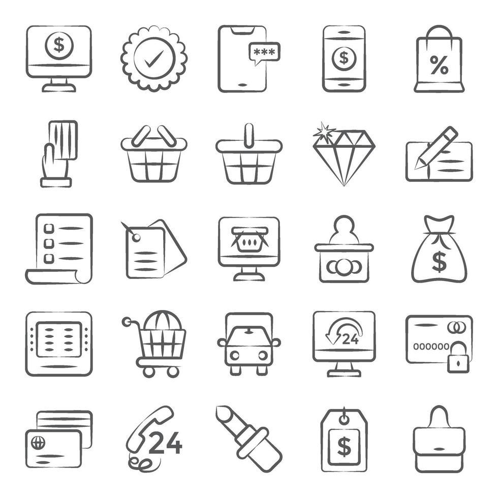 compras y pagos online vector