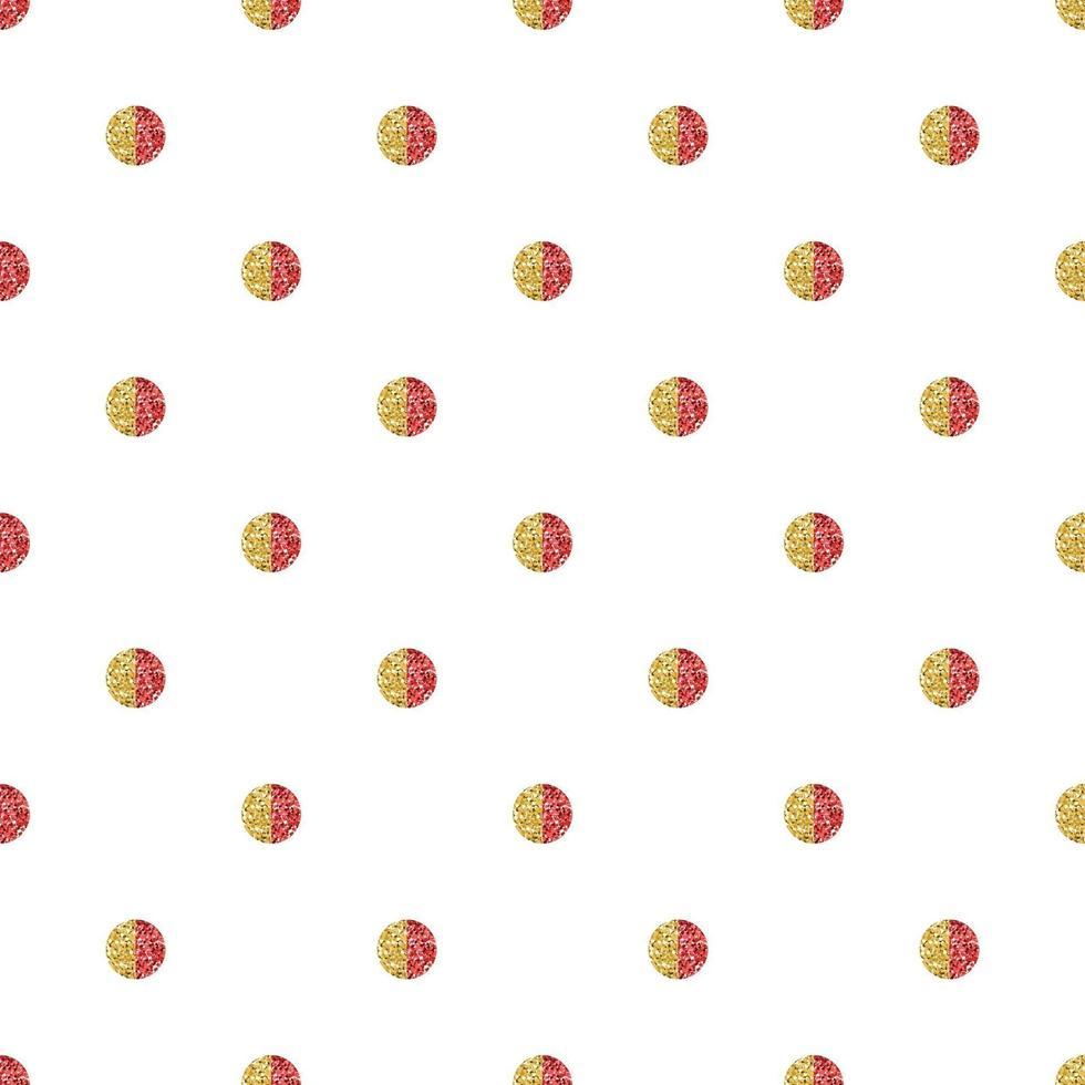 Fondo de patrón de año nuevo chino sin costuras con forma de punto de brillo rojo y dorado vector