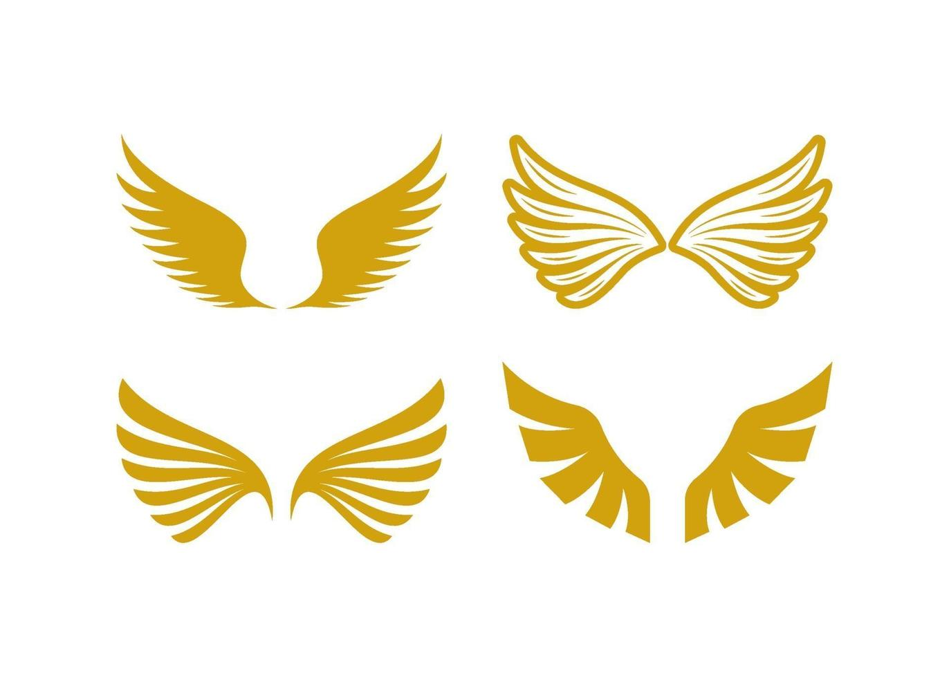 Wings icon illustration vector set