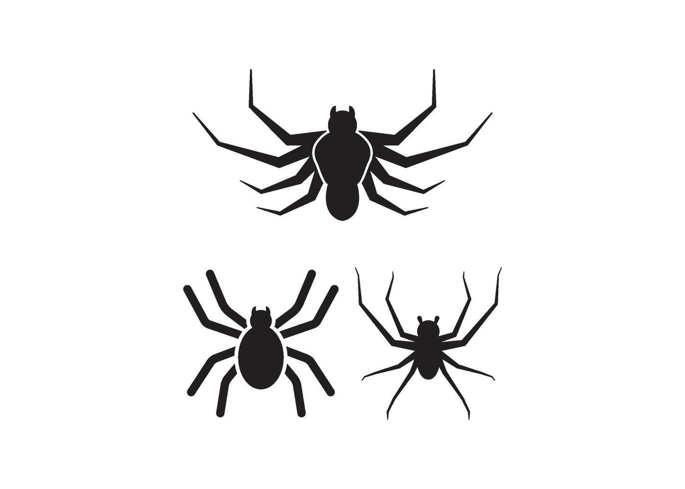 conjunto de vectores de ilustración de icono de araña