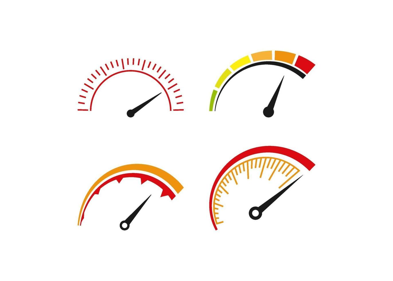 velocímetro, icono, ilustración, vector, conjunto vector