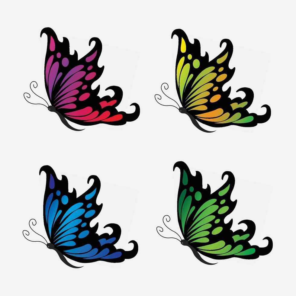 hermosa mariposa vector