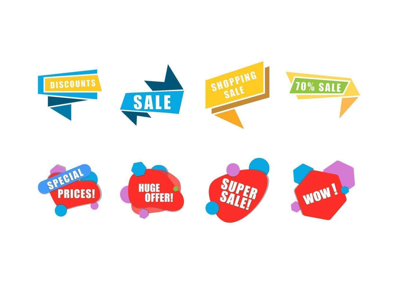 Ilustración de vector de plantilla de diseño de icono de venta de banner
