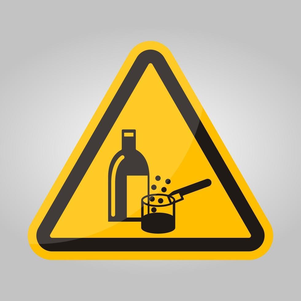 productos químicos en uso símbolo signo aislar sobre fondo blanco, ilustración vectorial eps.10 vector