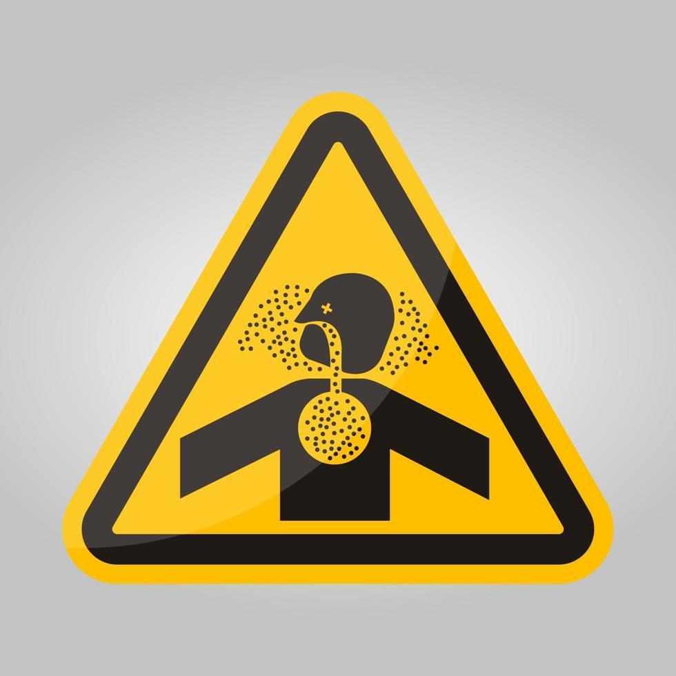 Signo de símbolo de asfixia de gases tóxicos, ilustración vectorial, aislar en la etiqueta de fondo blanco .eps10 vector