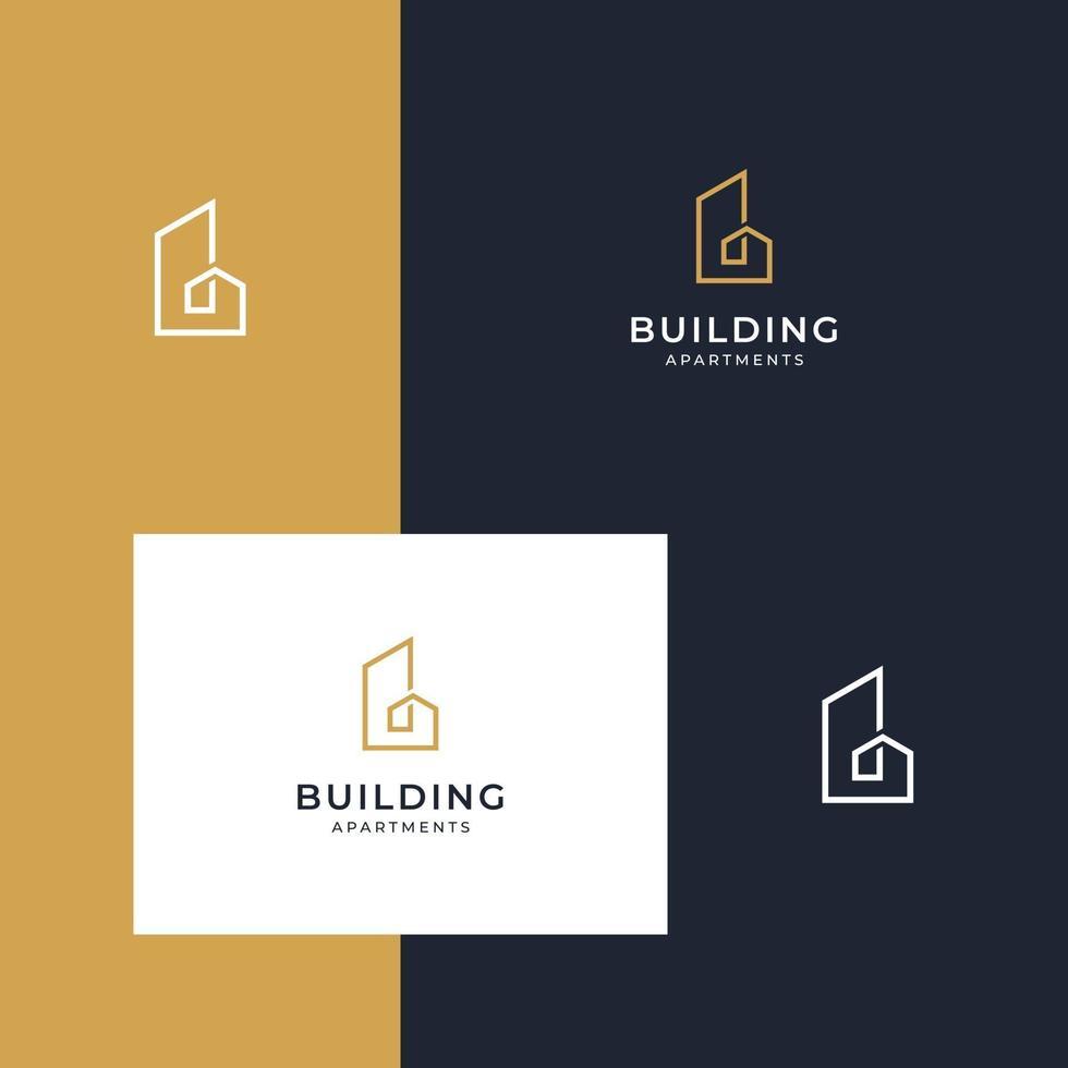 edificio de diseños de logotipos vector