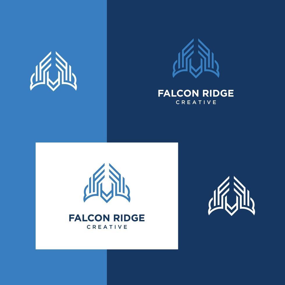 diseño de logotipo águila halcón halcón vector