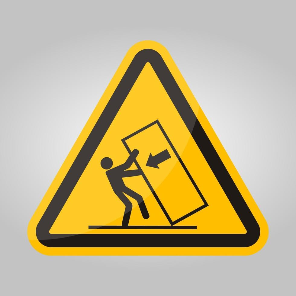 Body Crush Tip over Hazard Symbol Sign Isolate On White Background,Vector Illustration EPS.10 vector