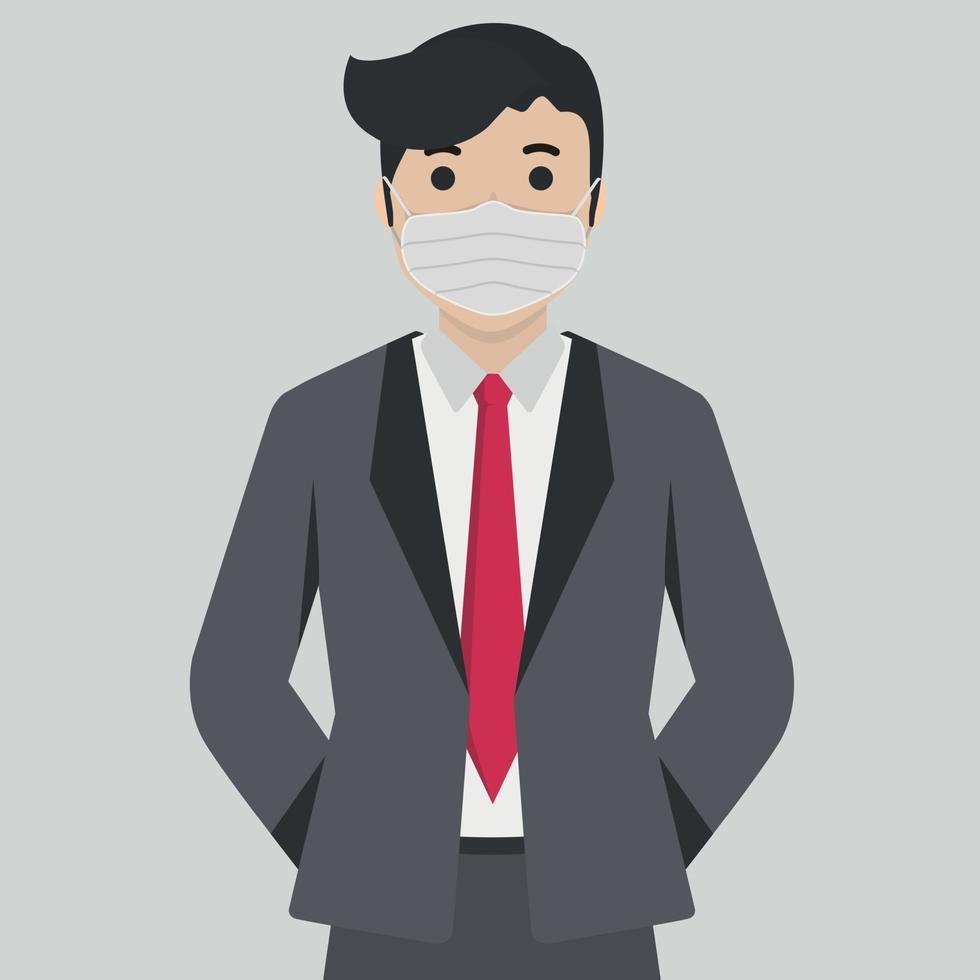 Hombres en máscara médica estéril - ilustración vectorial vector