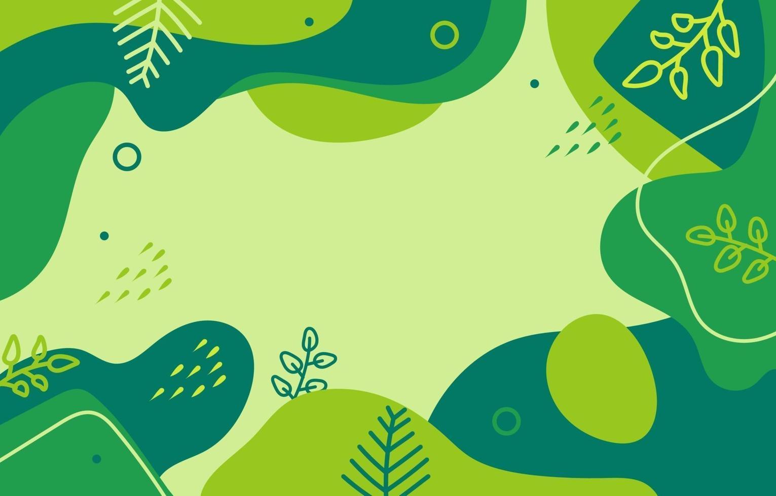 Flat Nature Fluid Background vector